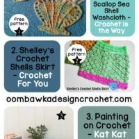 Your Favorites: Scallops, Sea Shells + Paint on Crochet?