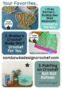 Scallops and Shells + Paint on Crochet? Your Favorites
