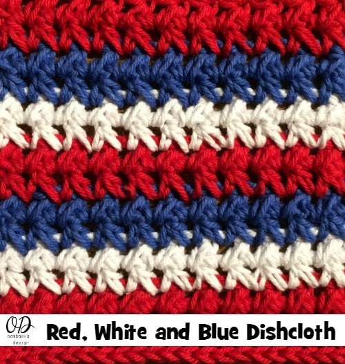 Red White and Blue Dishcloth-