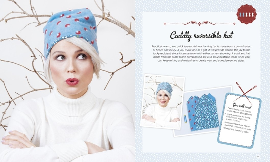 Sew Happy Karin Ziegler Book Review Cuddly Reversible Hat