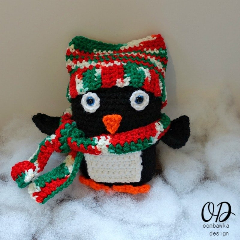 Baby Penguin Christmas In July Blog Hop with Red Heart Yarn