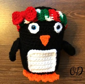 Baby Penguin Christmas in July with Hairband and bow