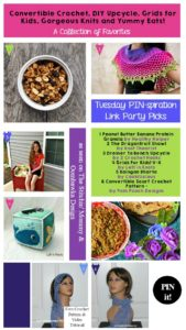Convertible Crochet, DIY Upcycle, Grids for Kids, Gorgeous Knits and Yummy Eats!