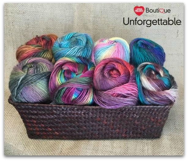 Celebrate and Enter to Win A 50 dollar prize pack of Red Heart Boutique Unforgettable Yarn
