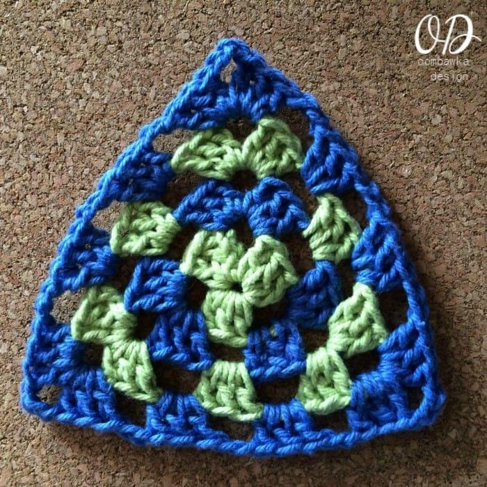 Granny Triangle Dishcloth Last round