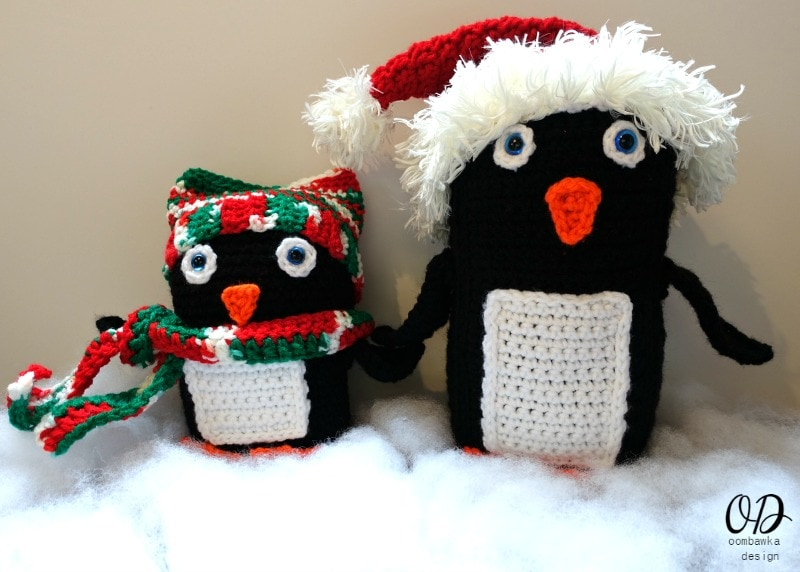 Penguin Family Christmas In July Red Heart Yarn Blog Hop #joycreators