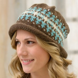Knit Beanies Martingale Book Review Fair Isle Roll