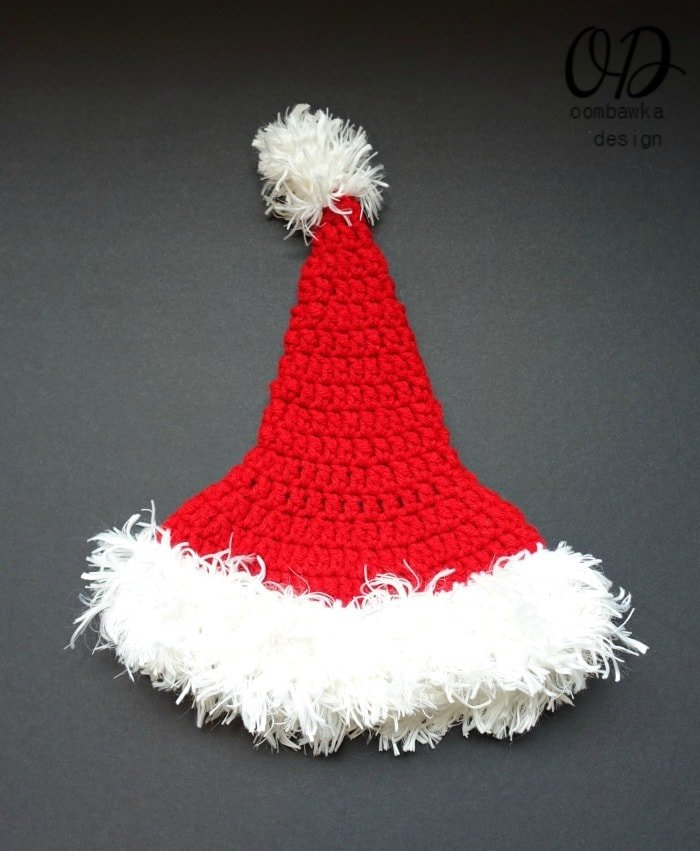 Santa Hat Adult Penguin Christmas in July Blog Hop With Red Heart Yarn