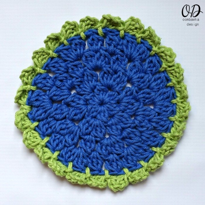 Easy Sunflower Scrubby Dishcloth ? Oombawka Design Crochet