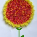 Easy Sunflower Scrubby Dishcloth