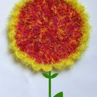 Easy Sunflower Scrubby Dishcloth
