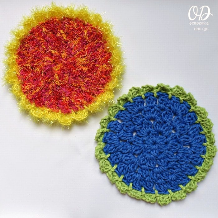 Sunflower-Scrubby-Dishcloth