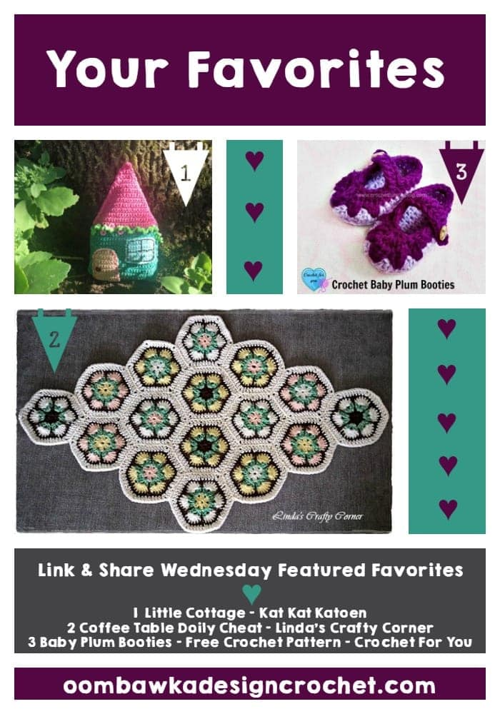 Your Favorites: Little Cottage, Coffee Table Doily, Adorable Baby Booties