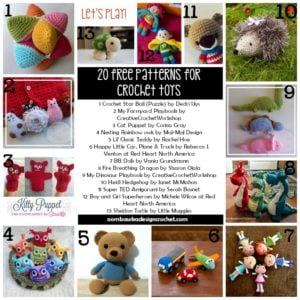 20 Free Patterns for Crochet Toys a Roundup By Oombawka Design