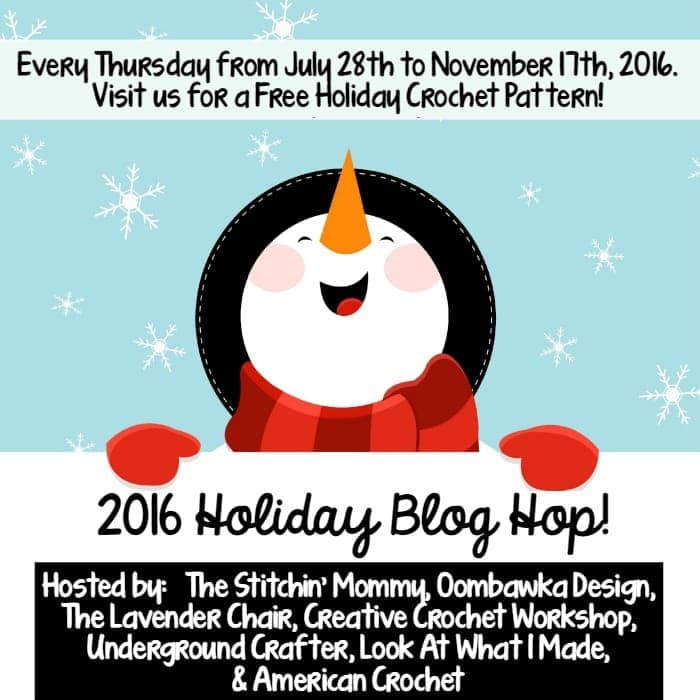 2016 Free Crochet Pattern Holiday Blog Hop Button