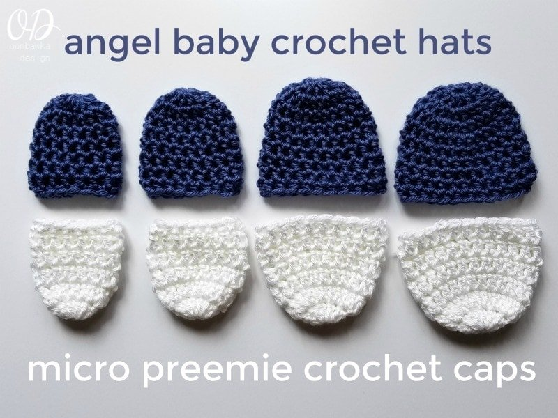 Angel Baby Crochet Hats and Micro Preemie Crochet Caps
