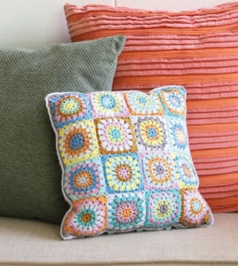 Circle Square Pillow - Crochet To Calm