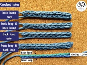 Beginner Crochet into the starting chain