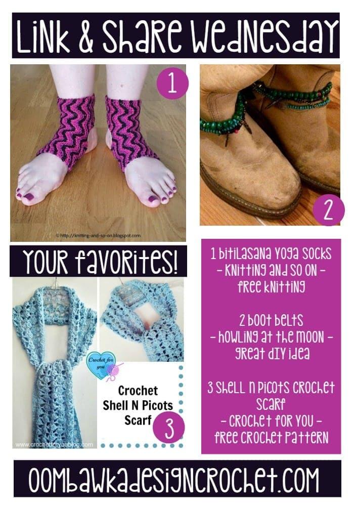 Favorites boot belts yoga socks picot scarf