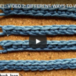 Learn to Crochet: Different Ways to Work Into the Starting Chain