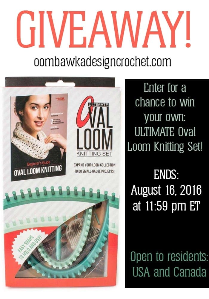 Oval Loom Giveaway with Leisure Arts ends August 16