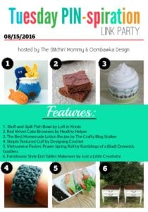 Featuring Homemade Lotion Recipe and the Free Stuff and Spill Fish Bowl Crochet Pattern.
