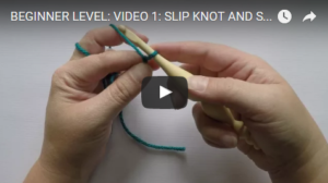 YouTube Slip Knot and Starting Chain