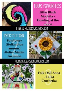 Your Favorites Sunflower Art Little Black Mochila and Anna Folk Doll