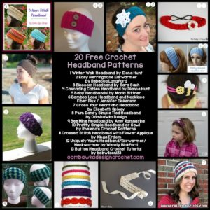20 Free Crochet Headband Patterns - Free Crochet Pattern Friday Oombawka Design