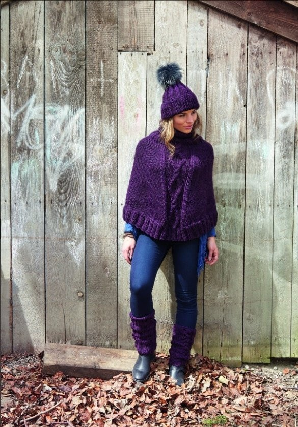 Poncho with Hat and Leg Warmers Excerpt Approved by DK Canada