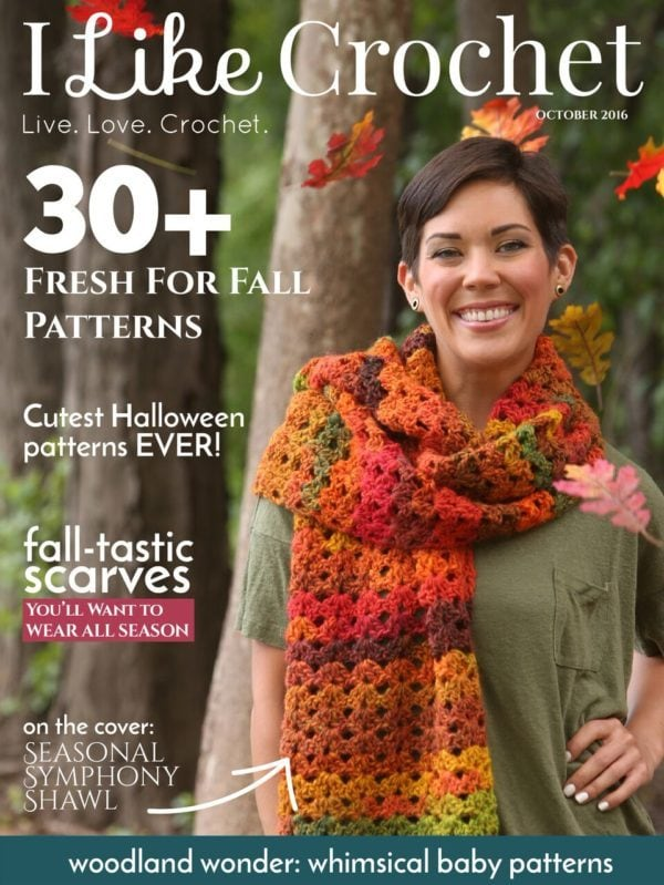 I Like Crochet. This new fall issue of I Like Crochet includes more than 30 crochet projects perfect for fall! I think you will fall in love with them too.