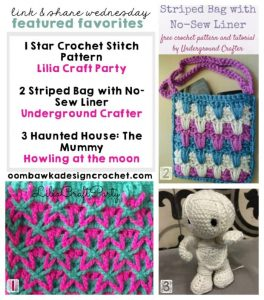 FEATURED FAVORITES LINK AND SHARE WEDNESDAY OOMBAWKADESIGNCROCHET