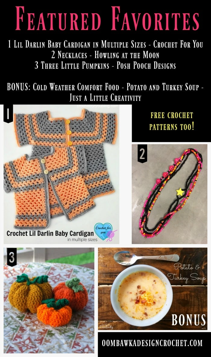 FEATURED FAVORITES - PUMPKINS, BABY CARDIGANS, NECKLACES, DIY, COMFORT FOOD