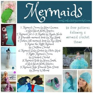 20 Mermaid Crochet Patterns. Free Pattern Roundup. Oombawka Design Crochet.