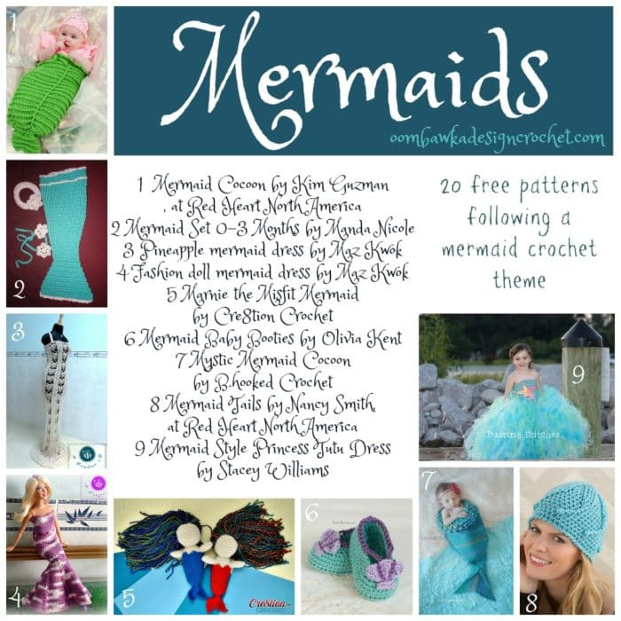 20 Free Patterns Mermaid Crochet