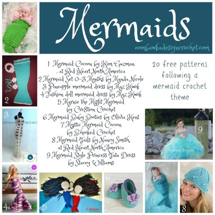 20 Free Patterns Mermaid Crochet