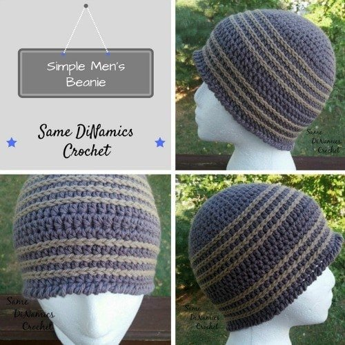 Simple Mens Beanie Crochet Pattern.