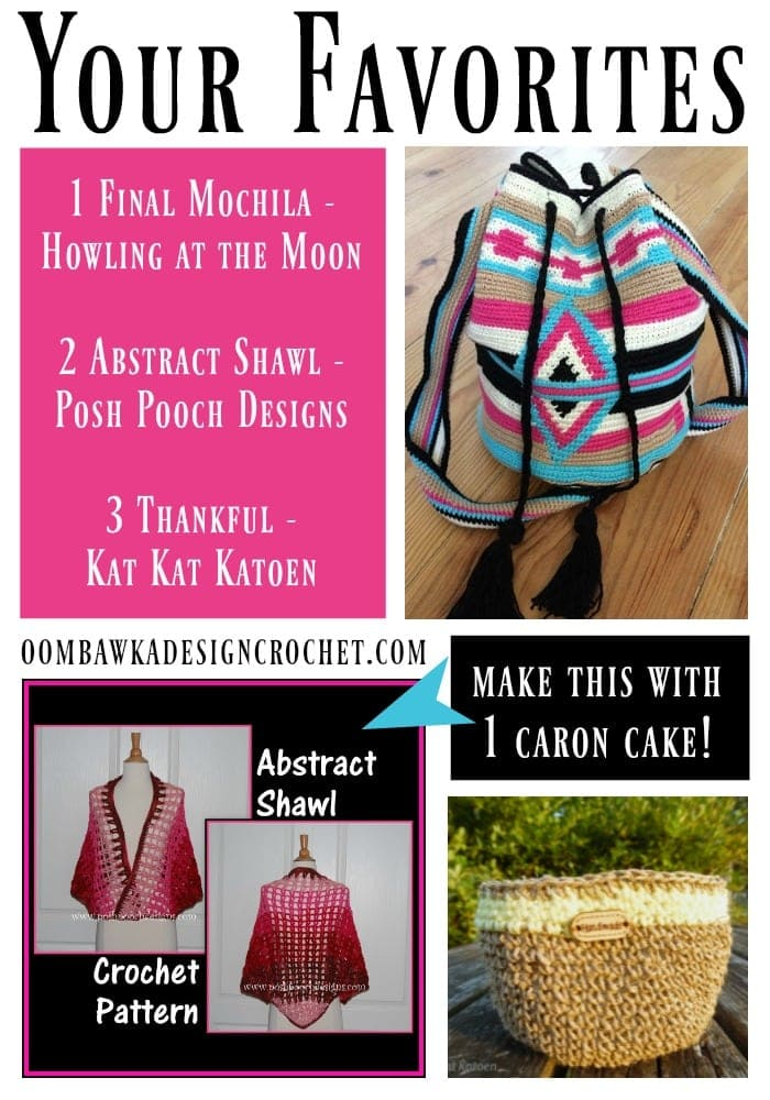 Your Favorites: Abstract Shawl, Being Thankful & A Final Mochila