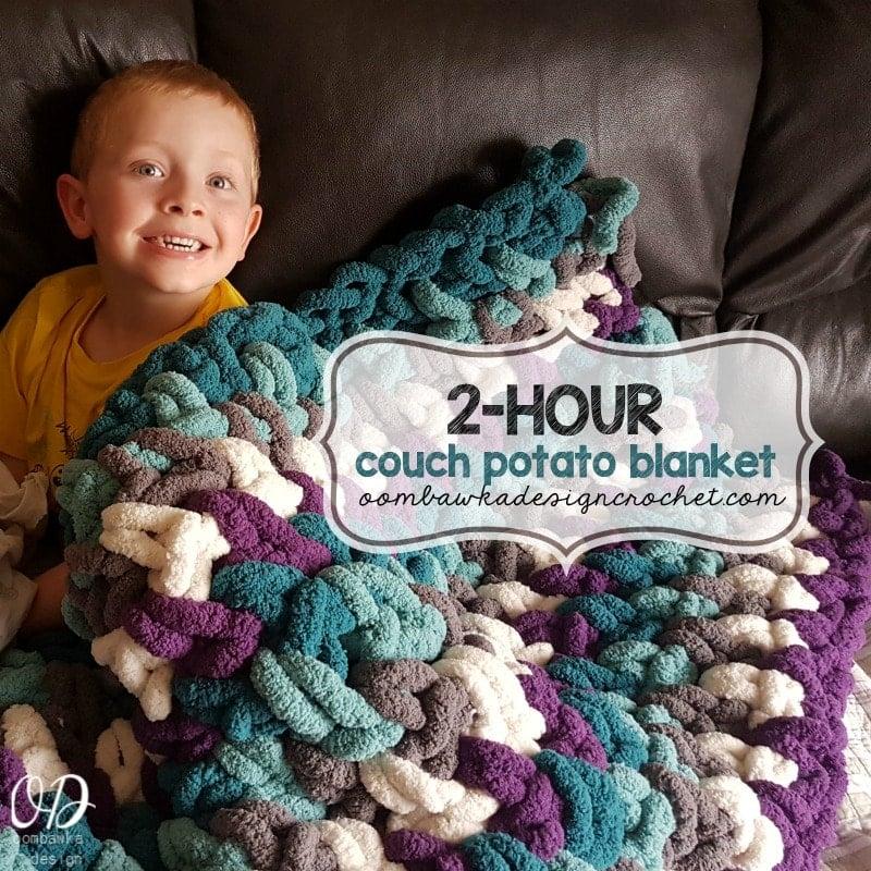 2 Hour Couch Potato Blanket Oombawka Design Crochet