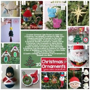 20 Christmas Ornaments You Can Crochet - Free Patterns - Oombawka Design Crochet