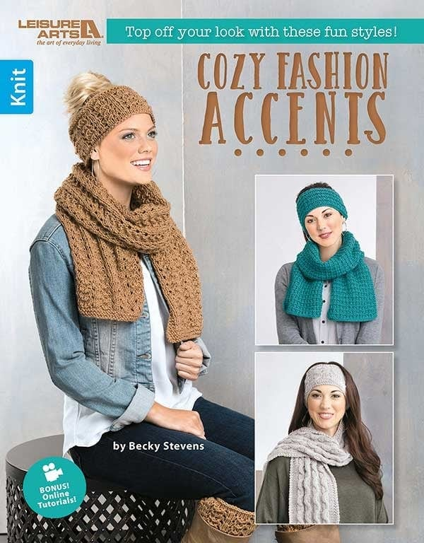 Cozy Fashion Accents Cover - Leisure Arts Book Review