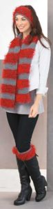 Furry Stripes Set - Cozy Fashion Accessories - Leisure Arts