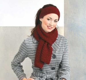 Chevron Seed Stitch Set - Cozy Fashion Accessories - Leisure Arts