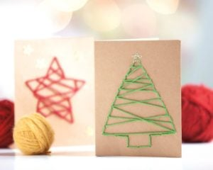 Stitched Cards - Yarn Whimsies for the Holidays