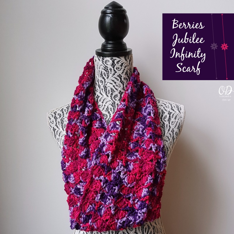 Berries Jubilee Infinity Scarf Pattern Oombawka Design Crochet