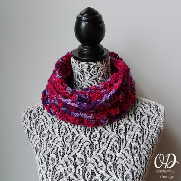 Berries Jubilee Infinity Scarf Design by Oombawka Design