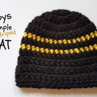 Boys Simple Striped Hat