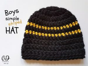 Boys Simple Striped Hat Pattern
