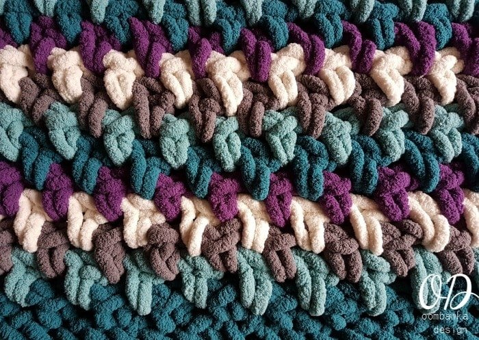 Couch Potato Blanket Close-up