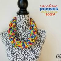 Rainbow Pebbles Infinity Scarf – October Scarf of the Month